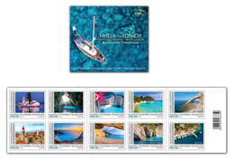 GREECE STAMPS 2021/IONIAN ISLANDS LANDSCAPES-19/5/21-MNH-SELF ADHESIVE-BOOKLET - Booklets