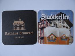 2 Bierdeckel - Rathaus-Brauerei Luzern, Schweiz - Portavasos