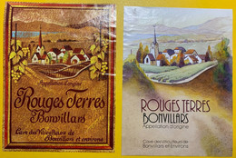 19519 - Rouges Terres Bonvillars  2 étiquettes - Altri