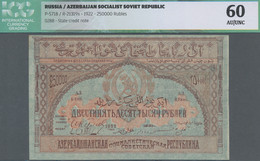 Russia / Russland: Azerbaijan Socialist Soviet Republic 250.000 Rubles 1922, P.S718, Tiny Dent At Up - Russie