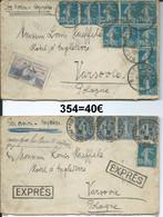 Lot De 2 Lettres De La Ligne France-Roumanie  (354) - Ohne Zuordnung