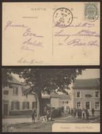 Carte Postale - Verlaine - Place De L'Eglise - Verlaine