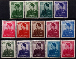 Romania 1940-42, Scott B138-B144A, MNH, King Michael / Mihai - Ungebraucht