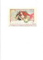 """C P A ILLUSTRATION """" JEUNE FEMME REVEUSE AUX COQUELICOTS """" CIRCULEE NON - 1900-1949"""