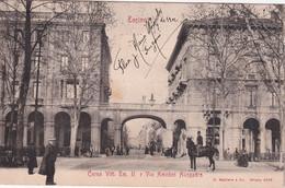 ITALIE 1902 CARTE POSTALE DE TURIN  CORSO VITT. EM II E VIA AMEDEO AVOGRADO - Altri