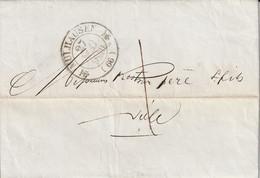 France Alsace Lettre Mülhausen 1840 Taxe Locale 1 - Elsass-Lothringen