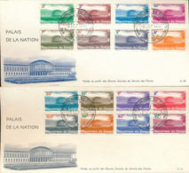"CONGO KINSHASA 1964 ""PALAIS DE LA NATION"" SET COB 551/566 FDC - Republiek Congo (1960-64)"