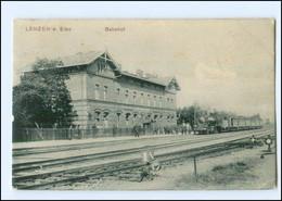 XX13735-193/ Lenzen A. Elbe Bahnhof AK 1908 - Zonder Classificatie