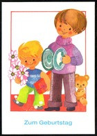D3969 - TOP H. Hoppert Glückwunschkarte Geburtstag - Kinder Teddy - Planet Verlag DDR - Geburtstag