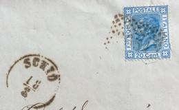 SCHIO 18/87 (annullo L.V.) + PUNTI Su 20 C. + TIMBRO VERDE COMUNE DI VALLI - PIEGO PER VERONA IN DATA 18/8/76 - Unclassified