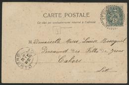 """LOT Boîte Urbaine """"A"""" + N° 111 Obl. C. à D. Facteur Boîtier ST VINCENT RIVE D'OLT LOT 23/6/03. - 1877-1920: Semi-moderne Periode"""