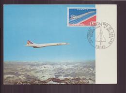 """France, FDC, Carte Du 10 Janvier 1976 à Paris """" Concorde Paris Rio De Janeiro """" - 1970-1979"""