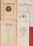 Lot De 5 Menus De 1920 à 1937 ( Chat; Art Déco ; Art Nouveau ) Hotel Moderne Et De La Poste JOINVILLE - Menus