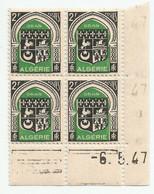 Algérie 138 - 1947 N° 259 Coin Daté - Unclassified
