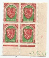 Algérie 141 - 1947 N° 261 Coin Daté - Unclassified