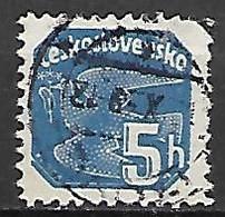 TCHECOSLOVAQUIE    -   Timbres Pour Journaux  -   1937 .  Y&T N° 18 Oblitéré Dentelé .   Colombe - Zeitungsmarken