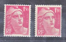 France  712 Variété Cicatrice Sur Le Front Et Normal  Marianne De Gandon Neuf ** TB MNH Sin Charnela - Abarten: 1945-49 Ungebraucht