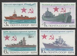 USSR (Russia) - Mi 4259-4262 - Navy Warships - 1974 - MNH - Nuevos