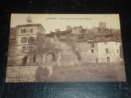 OPPEDE - LES RUINES ET ANCIENNE MAIRIE - 84 VAUCLUSE (C.T) - Oppede Le Vieux