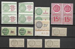 Tunisie Petite Collection De Timbres Fiscaux Anciens Neufs ** MNH. TB. A Saisir! - Nuevos
