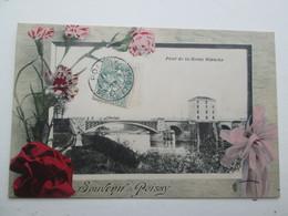POISSY  Pont De La Reine Blanche 1907 - Poissy
