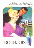 """PUB PARFUM """" SOIR De PARIS   """" De  """" BOURJOIS  """"   1961  ( 25 ) - Other"""