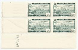 Algérie 149 - 1946/47  PA N° 3 Coin Daté - Airmail
