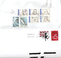 FRANCE 2 COVER  DIFFERENT THEMES STAMPS - Storia Postale