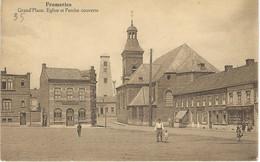 FRAMERIES : Grand'Place - Eglise Et Perche Couverte - RARE VARIANTE - Cachet De La Poste 1923 - Frameries