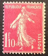 238 - 4 Variété Main Amputée Surencrage Semeuse 1f10 Rose Infime Trace Charnière - 1906-38 Semeuse Camée