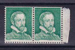 D 182 / LOT VIGNETTE PALISSY NEUF** / PAIRE  DENTELE 3 COTES - Collections