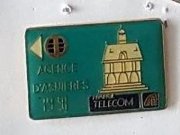 Pin' S  Forme  Carte De Téléphone  Ville, FRANCE  TELECOM  AGENCE  D' ASNIERES  ( 92 ) - Telecom Francesi