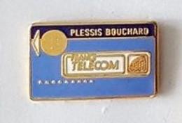 Pin' S  Forme  Carte De Téléphone  Ville, FRANCE  TELECOM  AGENCE  PLESSIS  BOUCHARD  ( 95 ) - Telecom Francesi
