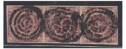 DANEMARK --1851-- FIRE R.B.S. -- Plade II N° 46-47-48 -- 3-stribe -- Annul. Med Stumt Stpl-- - Gebraucht