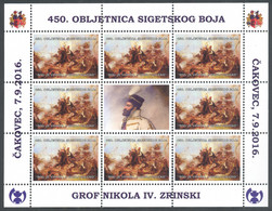 Croatia, 2016, Nikola Zrinski, 450th Year Of The Battle Of Siget, Special Miniature Sheet - Croacia