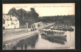 CPA Givet, Vallée De La Meuse, Le Givet-Touriste Partant Pour Hastiére Et Waulsort - Givet