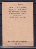 D 182 / LOT VIGNETTE CARNET COMPLET / 2 SCANS - Verzamelingen