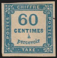 Timbres-Taxe N°9, 60c Bleu, Neuf * Avec Charnière - TB - 1859-1955.. Ungebraucht