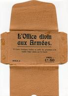 Auto Chapelle De L'armée Belge - Carnet Avec 10 Cartes - Serie A - OFFICE DIVIN AUX ARMEES - Secteur Belge L'Yser - Guerra 1914-18