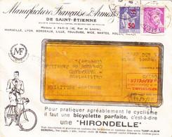"""42- """"Recommandé"""" Courrier Jamais OUVERT-Manufacture Française Armes St-Etienne-MASFARAUD Janaillat CREUSE-SURCHARGE 50c - 1921-1960: Moderne"""