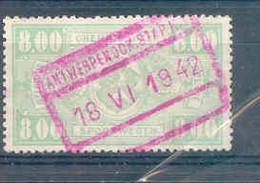 A343 Belgie Spoorwegen Met Stempel ANTWERPEN DOK STAP Rode Stempel - 1942-1951