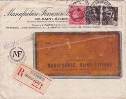 42- RECOMMANDE Avec TARIFS-Manufacture Française Armes Et Cycles St-Etienne-Cachet Janaillat CREUSE- - 1921-1960: Moderne