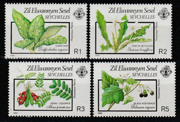 SEYCHELLES Zil Elwannyen Sesel - N°186/9 ** (1989) Plantes Vénéneuses - Seychelles (1976-...)