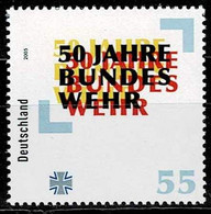Bund 2005,Michel# 2497 ** 50 Jahre Bundeswehr - Unused Stamps