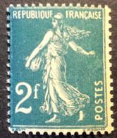 239 - 4 Semeuse 2f Vert Bleu Neuf ** - 1906-38 Semeuse Camée