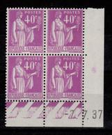Coin Daté YV 281 N** Type Paix Du 7.7.37 - 1930-1939