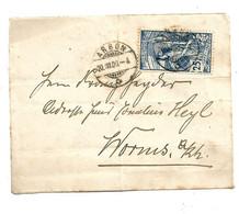 CH437 / SCHWEIZ - UPU 25 C, Platte II, Gut Zentriert, Ex Arbon Nach Worms, Deutschland 30.9.00 - Covers & Documents