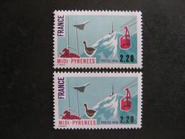 TB N° 1866, FRANCE EN VIOLET NOIR + FRANCE EN VIOLET, Neufs XX. - Abarten: 1970-79 Ungebraucht