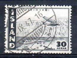 ISLANDE. PA 22 De 1947 Oblitéré. Avion En Vol. - Aerei