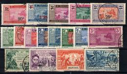 Mauritania Nº 51/52,54/57,58/61,62/65. Años 1924-31 - Oblitérés